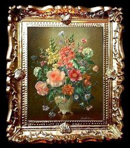 Belle Maison De Poupées/pièce Boîte Miniature Photo Floral/wall Art-no04312-afficher Le Titre D'origine AgréAble Au Palais