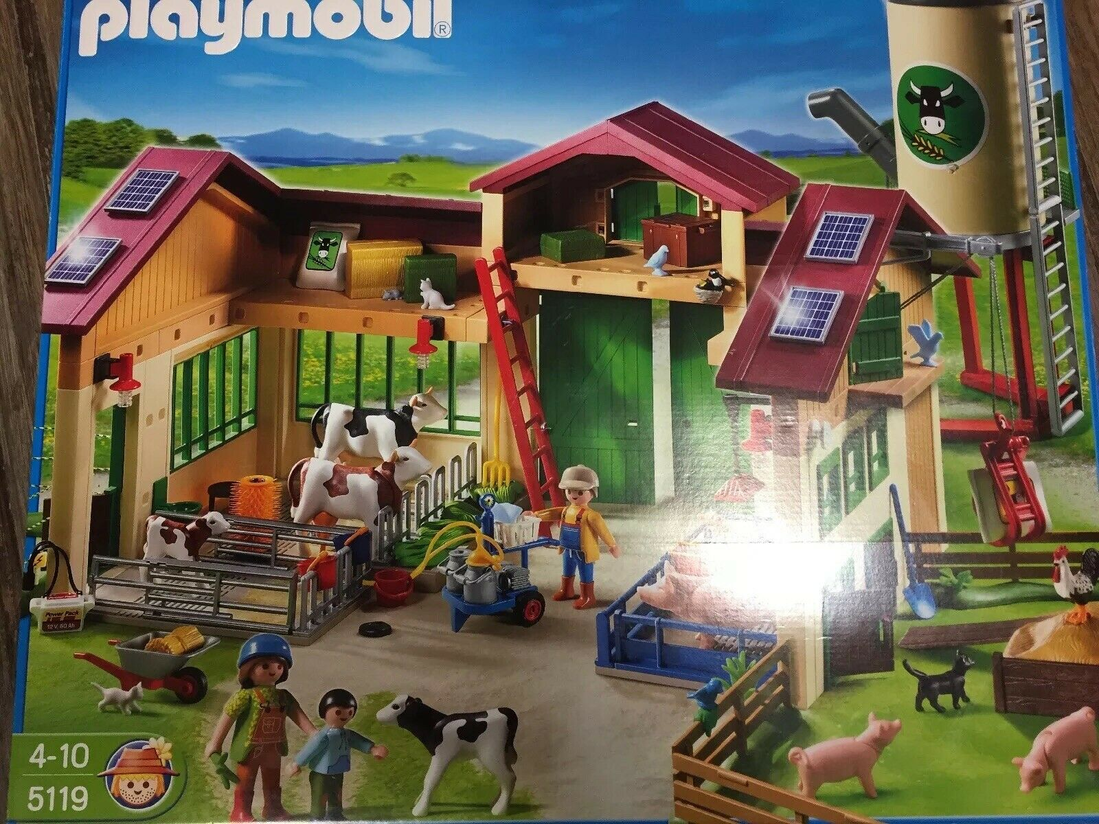 Schöner großer Playmobil-Bauernhof 5119+6209+4496+5124, neuwertig + OVP