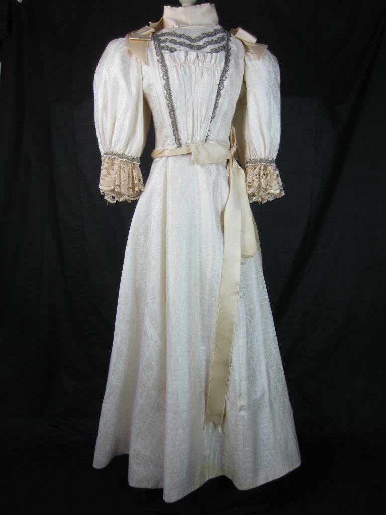 1895 Wedding Gown Victorian True Antique Dress - … - image 11