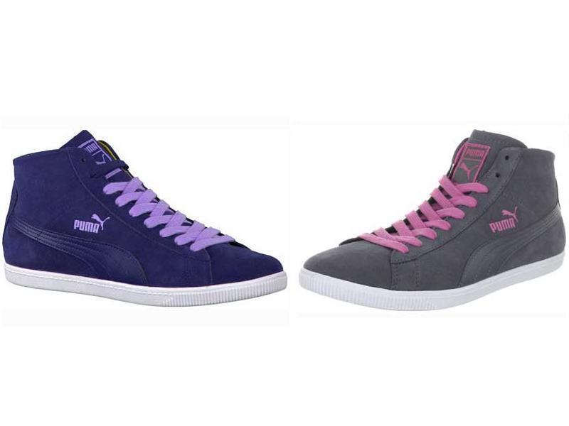 PUMA Women's Glyde Mid Top shoes Size 6-10 Grey Pink   bluee Lavender