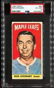 1964-1965-Topps-Hockey-99-RON-STEWART-Toronto-Maple-Leafs-PSA-6-EX-MT