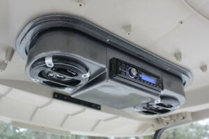 Golf-Cart-Carbon-Fiber-Radio-Console-Universal-Radio-Not-Included