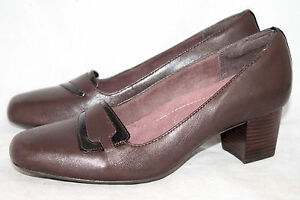 CLARKS EVERYDAY Sugar Sky Wo's 6.5W Brown Leather Mid Heel Pumps 84977