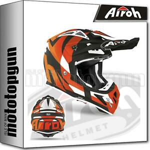 AIROH-AVAT32-INTEGRALHELME-OFF-ROAD-MOTORRAD-ORANGE-MATT-AVIATOR-ACE-TRICK-L
