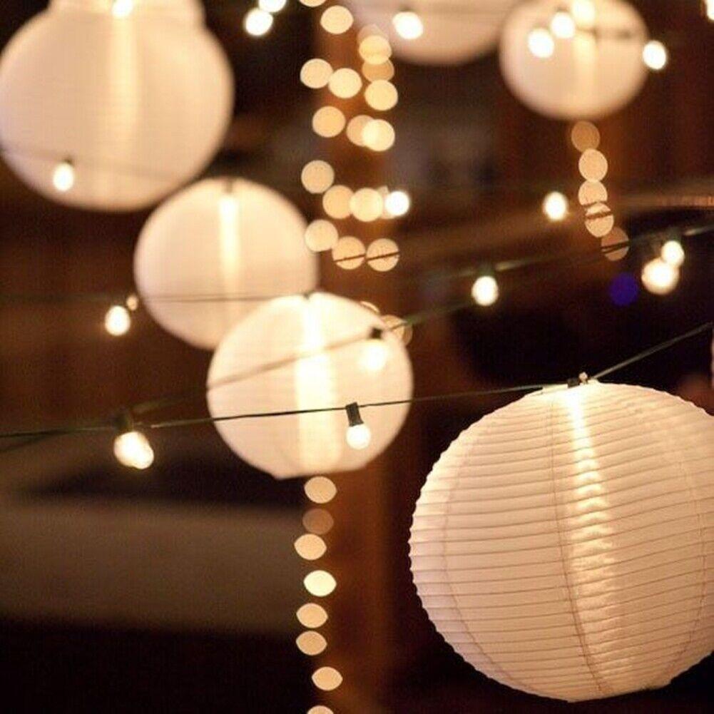 Blanc lanternes de papier ballon rond forme pour mariage décoration 30pcs Mixte Taille