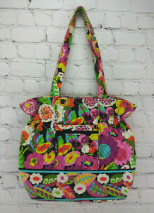 VERA-BRADLEY-Purse-or-Tote-Va-Va-Bloom-Flowers-Retired-Pattern-2012-Nice