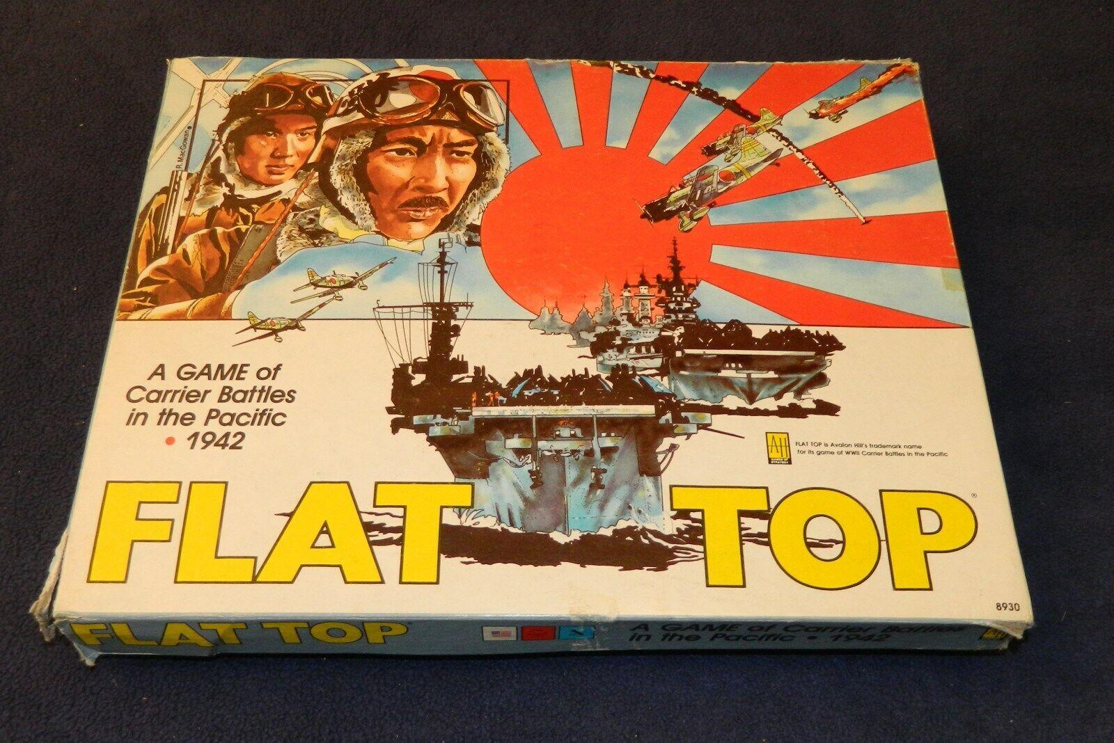 Tapa Plana Juego De Mesa 1981 por Avalon Hill. portador batallas en el Pacífico 1942.