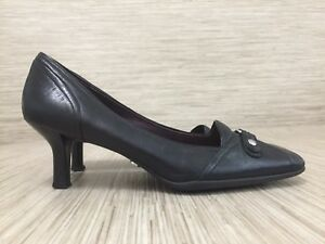 abfe2bdb125 Details about Cole Haan Black Leather Shoes Women's Size 8.5 AA Formal 2.5  Inch Slim Heels