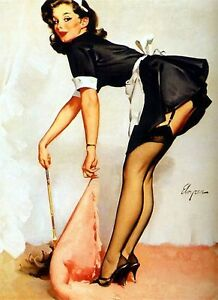 1950/'s Vintage Pin-Up Girl 11 Poster  A3 A2 Print