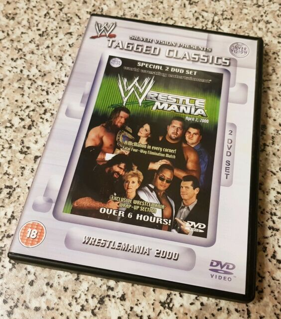WWE Tagged Classics Wrestlemania 2000 (DVD 2009 2-Disc Set) RARE