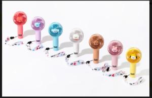 BTS BT21 Mini Hand Fan Line Friends Official Portable Baby Handheld k-pop