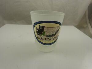 shot glass Washington eagle bear souvenir collectible