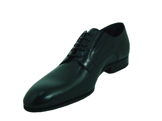 Homme Doucals 2069 Italien Classique Lacets Oxford Chaussures Noir, Marron