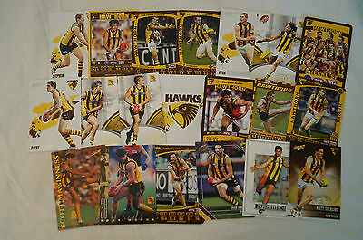 HAWTHORN HAWKS- Collection of 20 Cards inc. HODGE, CRAWFORD,FRANKLIN etc