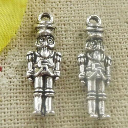 Free Ship 108 pieces tibetan silver robot charms 23x8mm L-4771