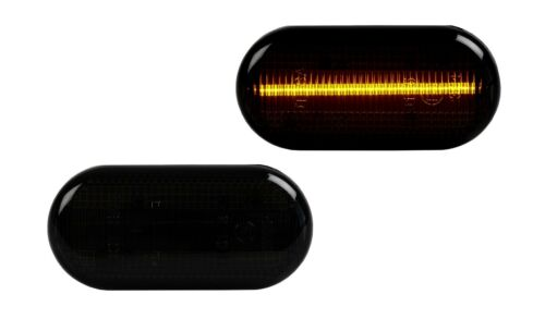 2 X LED SEITENBLINKER BLINKER SMOKE SCHWARZ Dacia Nissan Opel Renault SB23