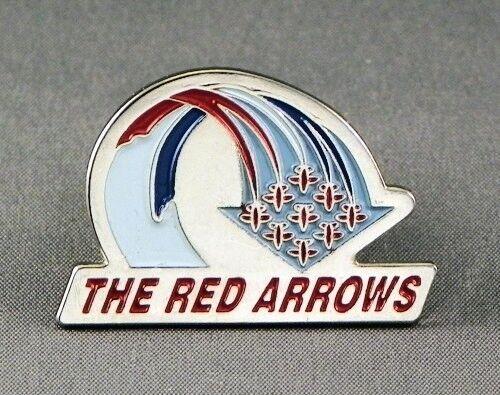 Metal Enamel Pin Badge Brooch RAF Red Arrows Formation Red Arrows Display Team