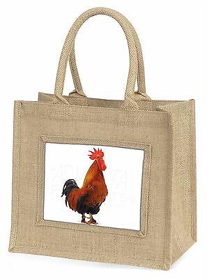 Morgen Anruf Hahn Große natürliche jute-einkaufstasche