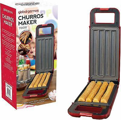 Macchina per Churros Maker Global ELECTRIC 700W SPAGNOLO CIAMBELLA cialda-Rosso /& Nero