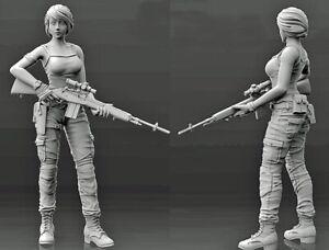 1-35-Resin-Female-Sniper-Fantasy-Soldier-Unpainted-unassembled-CK009