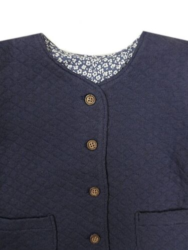 "BABY GIRLS /""EX M/&S/"" SOFT QUILTED SMART JACKET"