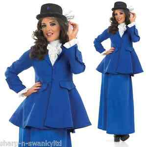 Larga-Duracion-Victoriano-Mary-Poppins-Libro-dia-Fancy-Dress-Costume-Traje-Talla-Plus