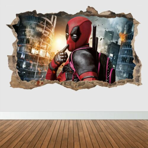 Deadpool Loch in der Wand /_Wandsticker/_ Kunst /_ Vinyl