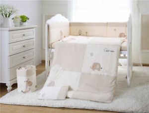7pcs-Baby-Crib-Bedding-set-Bumpers-Quilt-Pillow-Cot-Sheet-Organic-Cotton-AU001