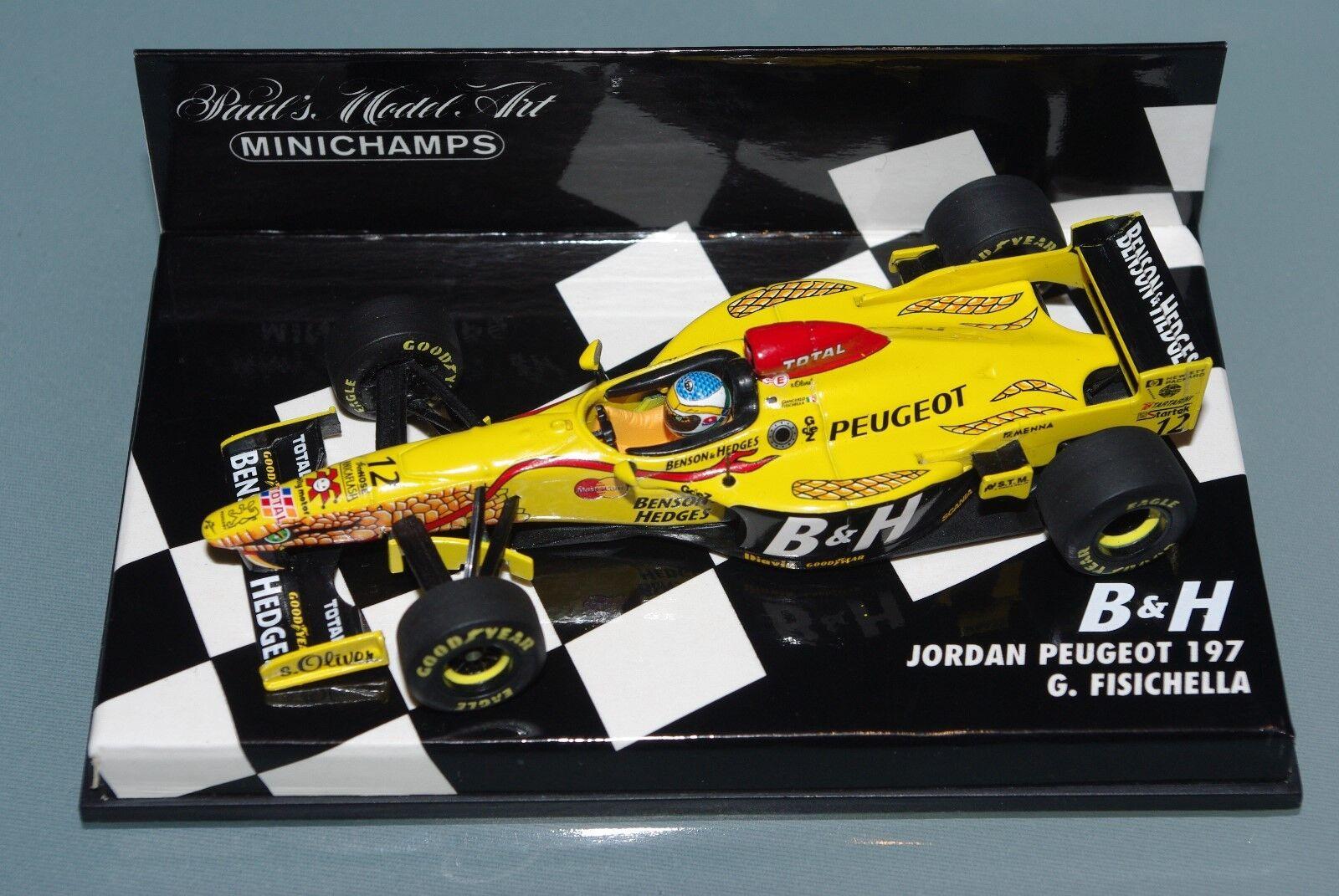 Minichamps F1 1 43 Jordan Peugeot 197 B&h Tobbaco conversión-Ferrari