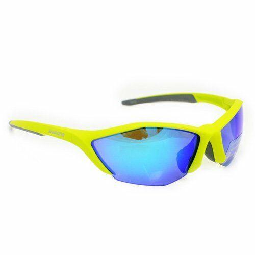 Shimano CE-S61R-PL Polarized Lens Cycling Sport Sunglasses, Mat LimeYellow Grey   free delivery