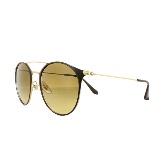 Sunglasses Ray-Ban Rb3546 9009 85 52 Gold Top Brown   eBay 7ab67bac9bea