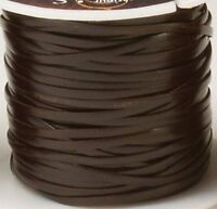 """DARK BROWN SUPERIOR CALF LACE 3/32"""" x 50 yards 5006-02 Tandy Leather Craft Spool"""
