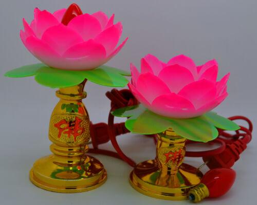 Lotus Altar Light Flower Electric Lamp Lantern Decor Zen Buddhism Feng Shui