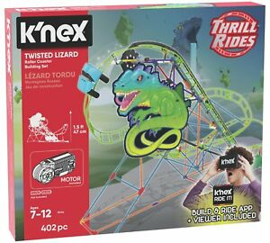 K-039-NEX-Twisted-Lizard-Roller-Coaster-Building-Set-402-Piece-Age-7-12-NEW