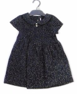 6e175cfd6 Ex F & F Baby Girls Black Gold Sparkle Christmas Party Dress Age 12 ...