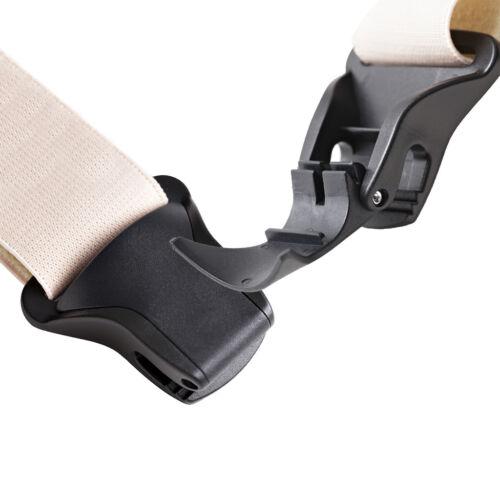 Airport Friendly SIDE CLIP Undergarment Suspenders BEIGE