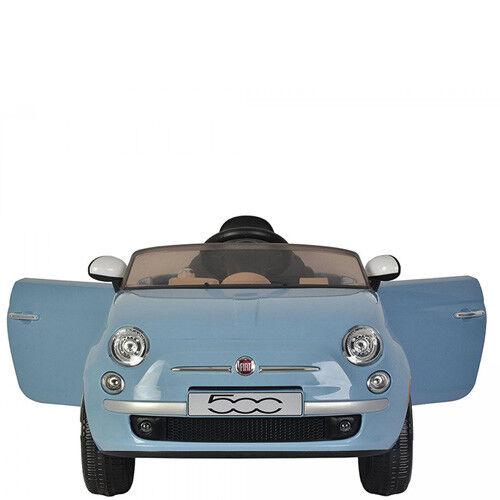 Auto macchina elettrica per bambini Fiat 500 12V con telecomando e retromarcia