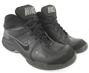 NIKE The Overplay VI Black High Top Basketball Shoes 443456-002 Mens ... 94a47f6f5