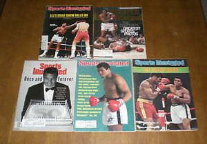 5 DIFFERENT BOXING SPORTS ILLUSTRATED MUHAMMAD ALI COVERS