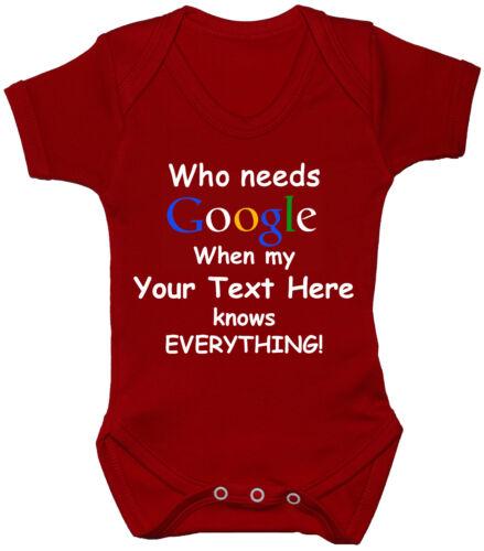rompre body Qui a besoin de croissance de bébé personnalisé Google 0-24m t-shirt garçon fille