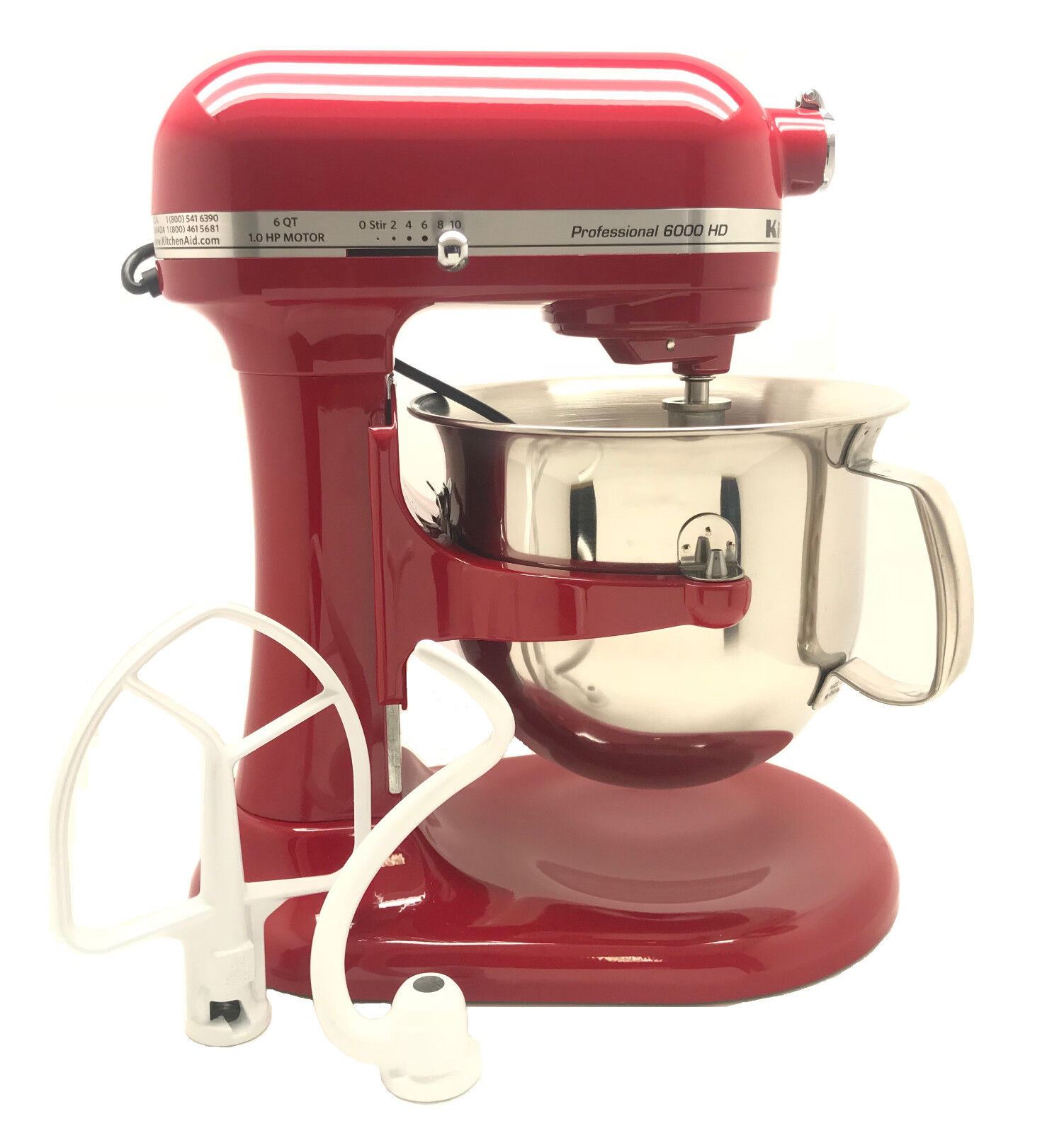 KitchenAid R KSM6573ER 6 Qt Professional Bol-Lift Stand Mixer Empire Rouge