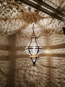 Pure hancraft of Fez Chandelier Moroccan spherical pendent Ceiling night light handmade decoration brass hanging lamp