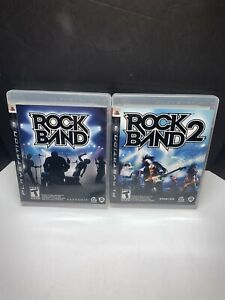 Rock-Band-1-2-PlayStation-3-PS3-Complete-in-Box-w-Manual