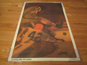 1969 NATIONAL FOOTBALL LEAGUE 50th Anniversary Poster CLEVELAND BROWNS (1950)
