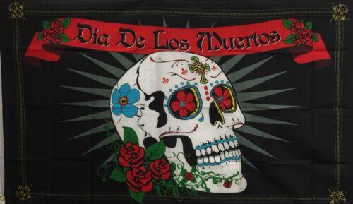Day Of The Dead Flag Banner// Bandera Dia De Los Muertos