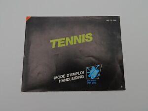 Nintendo NES - Tennis - FAH - Notice