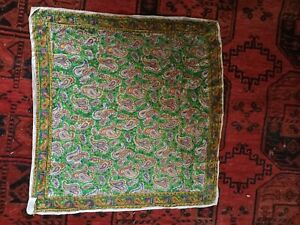 60s-Vintage-Silk-Paisley-Scarf-Fancy-India-Hand-Rolled-Boho-Hippie-Gypsy-21x22-034