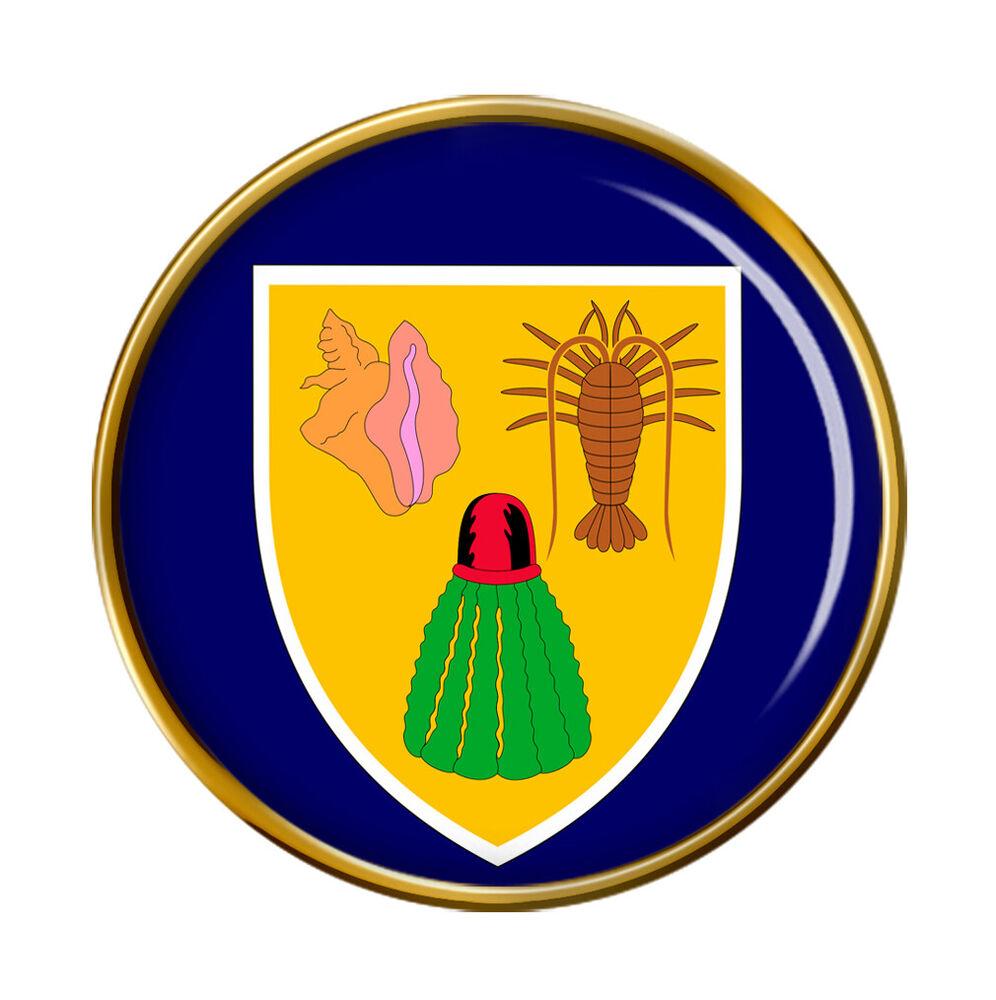TURK /& CAICOS ISLANDS Metal Flag Lapel Pin Badge
