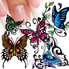 Nail Art Decal Water Slide Transfer Color Butterfly Style Stickers 11 in 1 W32