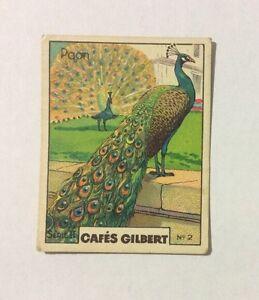 CHROMO-Image-CAFES-GILBERT-annees-30-Serie-2-n-2-PAON